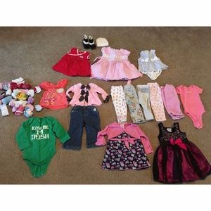 Other - Infant Girl's Lot of 17 6-12M Clothes+Boots+Socks
